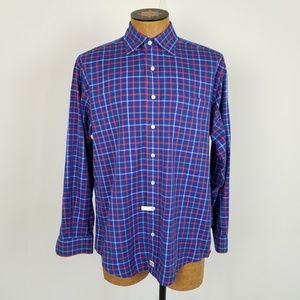 Vineyard Vines Blue& Red Plaid Murray Shirt